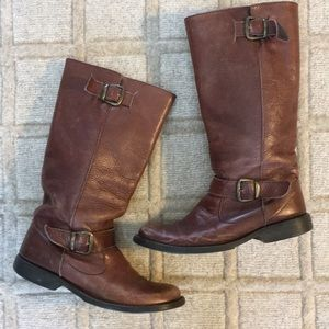 Steve Madden Distressed Leather Riding Boots